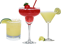 three margaritas made by Margarita Momma, Atlanta, Alpharatta,and Roswell Margarita Machine Party Rentals